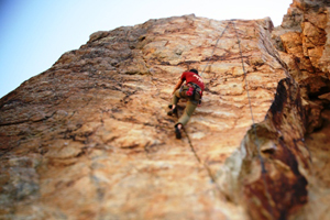 Climbing in Rock Canyon